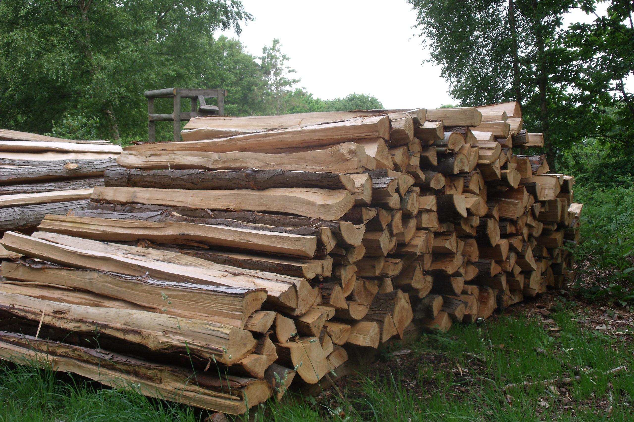 Pieux piquets en bois
